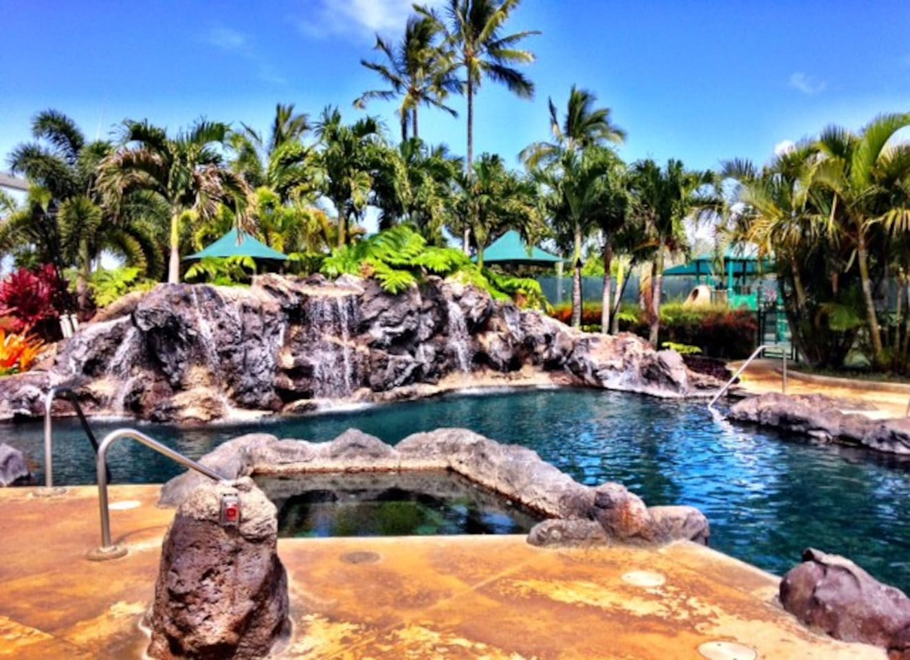 The Resort Pool ~ Jacuzzi ~ Tiki Torches