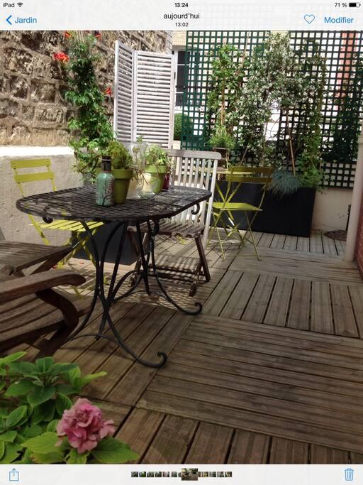 Charming house 15 minutes from downtown paris adosados - Abri jardin inferieur a m asnieres sur seine ...