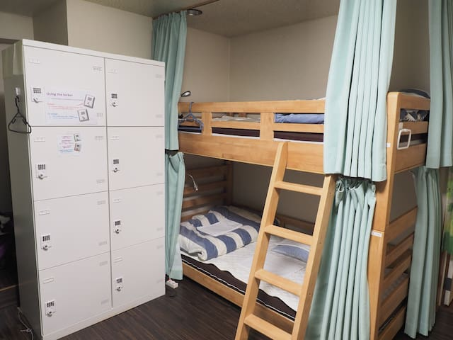 Yokohama Central Hostel female dorm room.