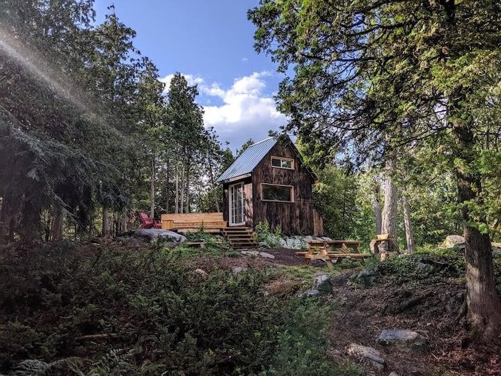 Island Adventure  Black Bird Cabin on Sharbot Lake