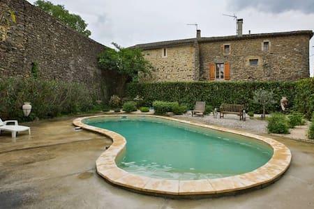 Private Bedroom in a Charming Village Stone Home - Cornillon - Haus