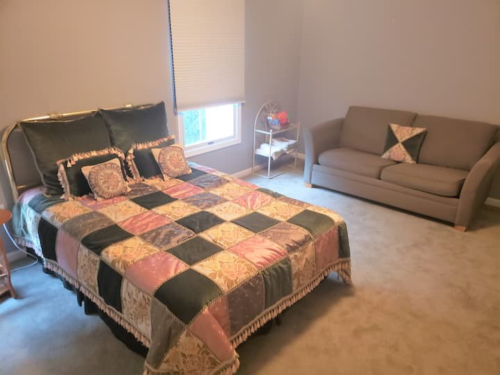 Private,comfortable living space, feels like home.