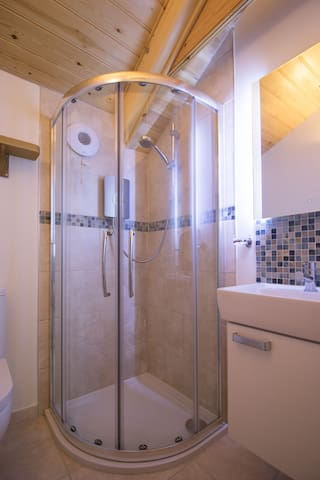 """""""Modern recently fitted shower room"""""""