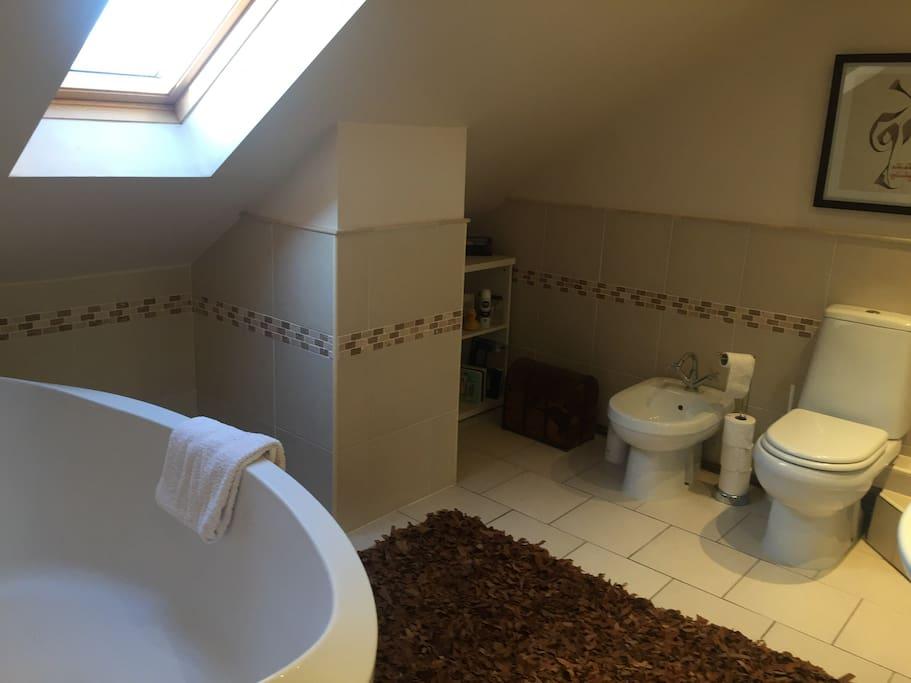 En suite bathroom with separate shower