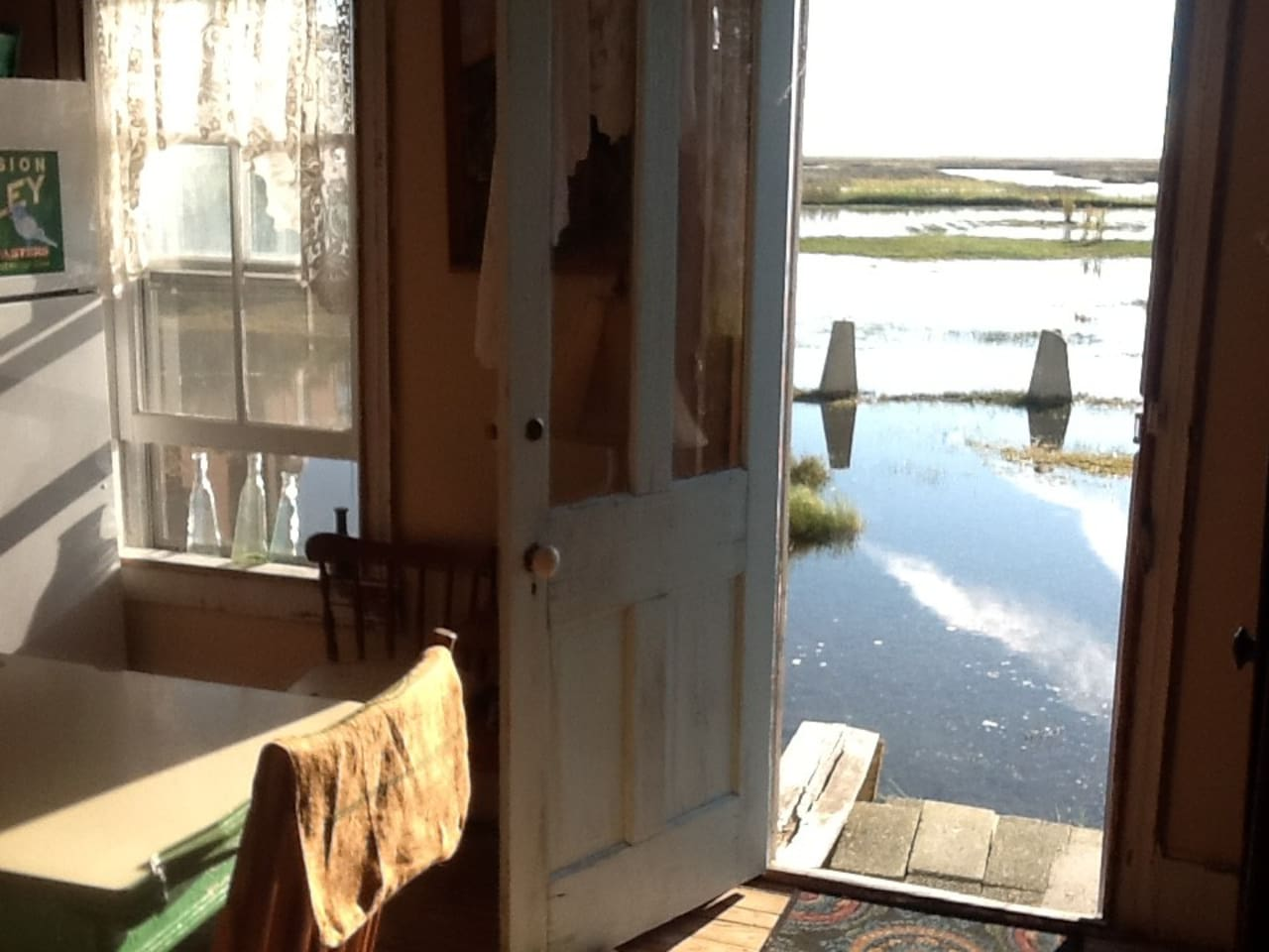 kitchen--high tide! bring your boots!