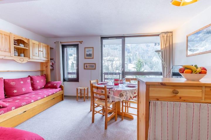 Le Flocon - Studio cosy vue montagne -Val d'Arly
