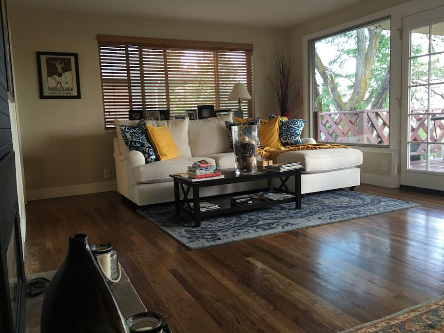 Elegant and sophisticated living room to view those amazing sunsets across the SLC Valley.