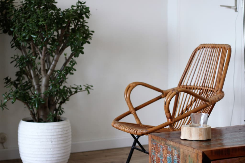 Rattan chair to relax on