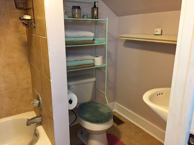 Full, private bathroom