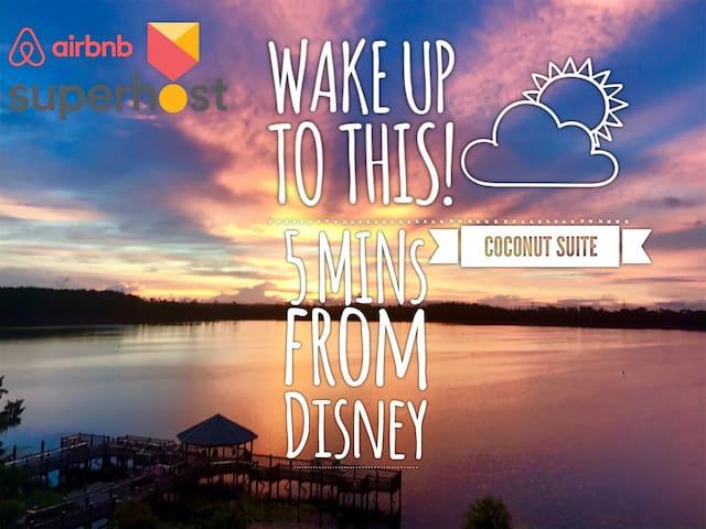 Luxury Lakefront★Sleep 6★5mins>Disney★Free Shuttle