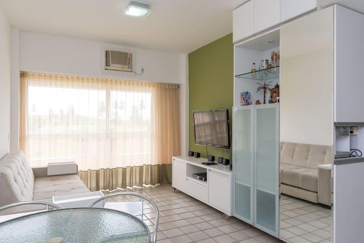Flat na Praia no Gavoa Beach Resort - Igarassu - Apartamento