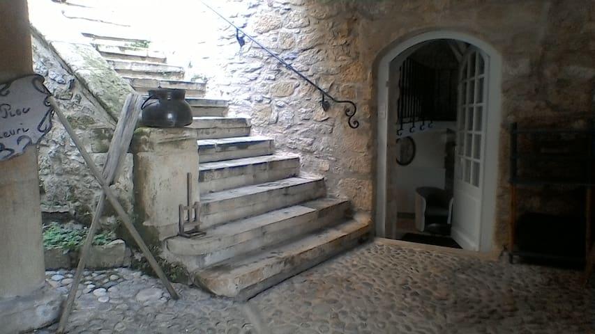 Entrée par le patio et accès terrasses