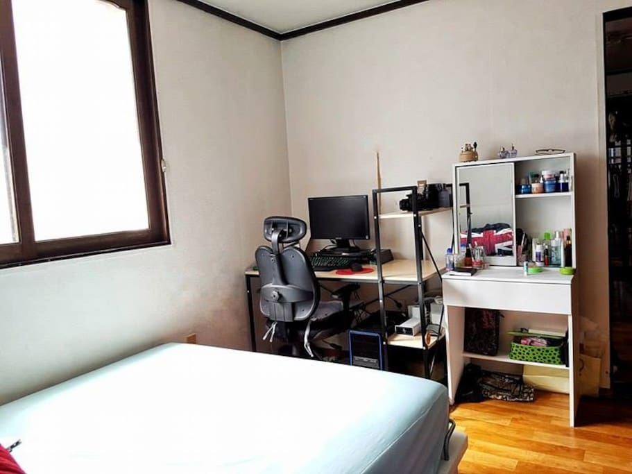 Personal computer and make up space for the guy and girl ;)