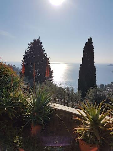 Breathtaking wiew of Portofino  exclusive bedroom