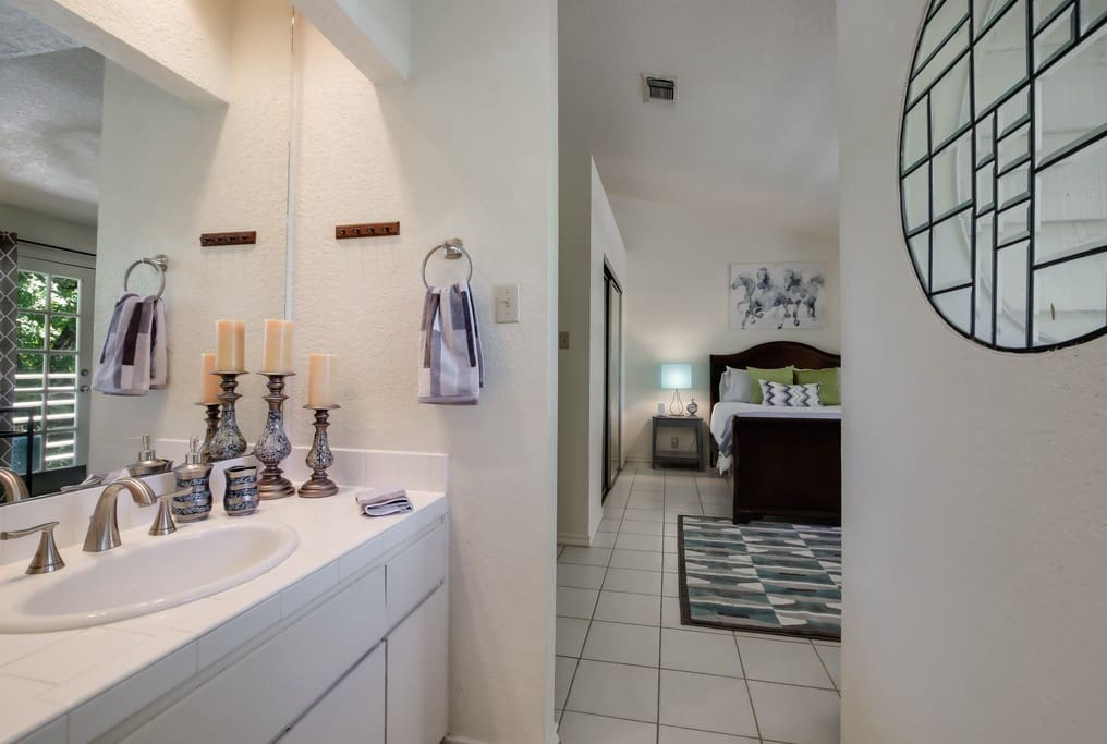 Your own private full bathroom inside your bedroom.