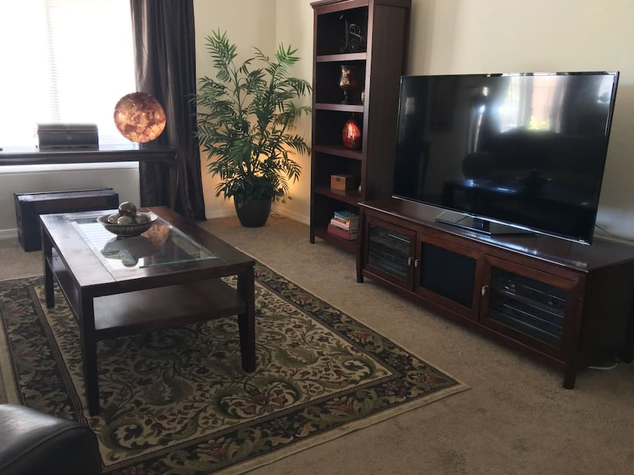 "Great room with 55"" s"