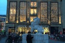 Bijenkorf, the department store at the corner of Dam Square