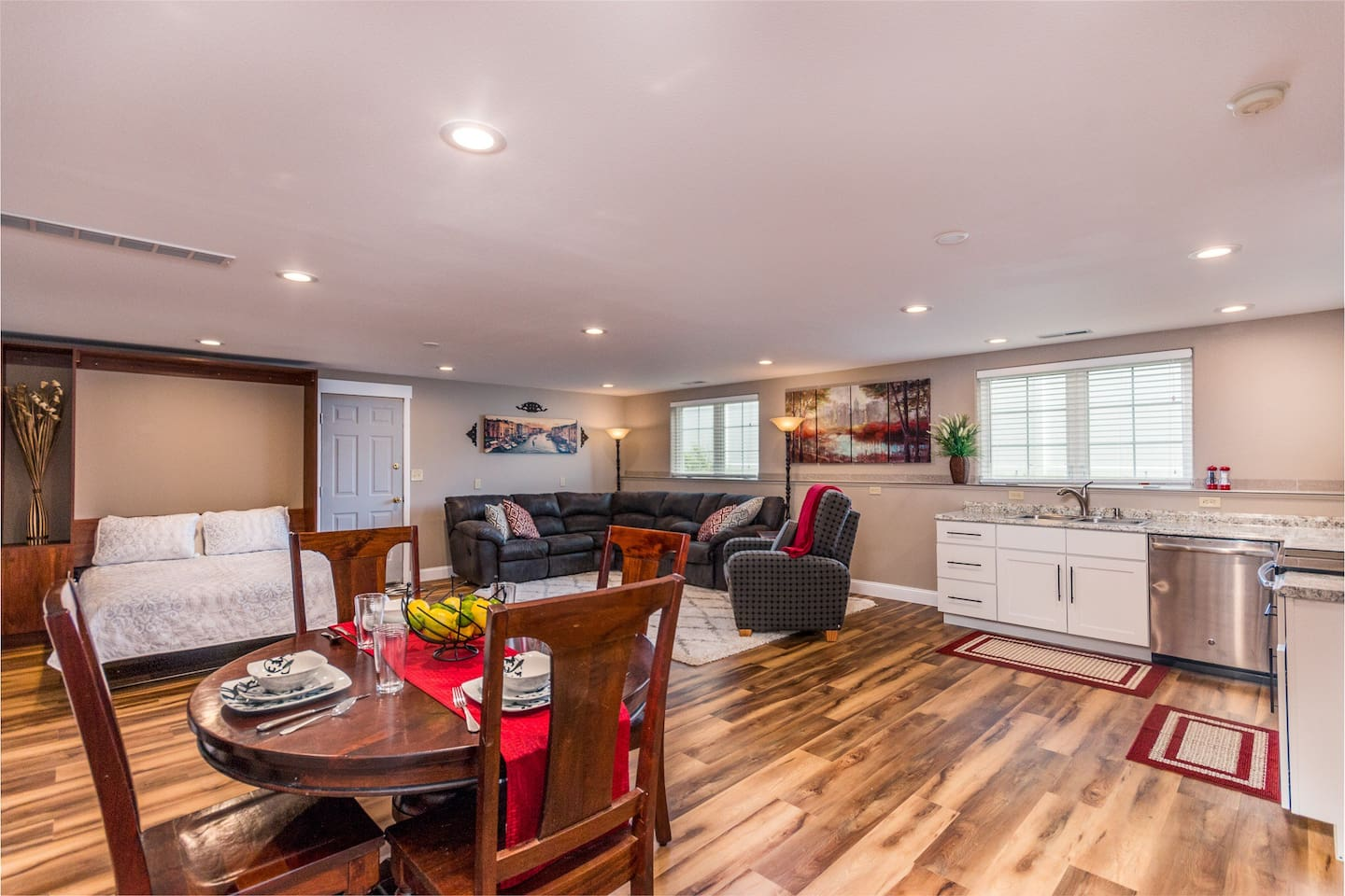 Newly finished day light basement in Billings