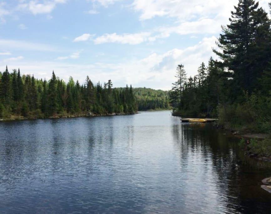 Lac Laurianne, vue du quai