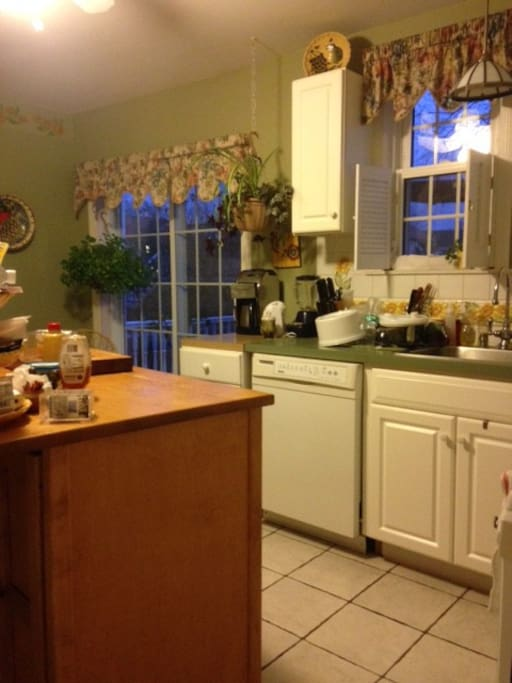 kitchen cooking area.