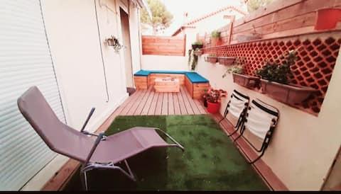 logement entier ,wifi fibre,télé, terrasse...