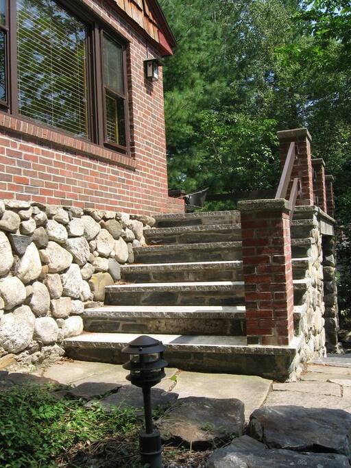 Granite steps lead the way