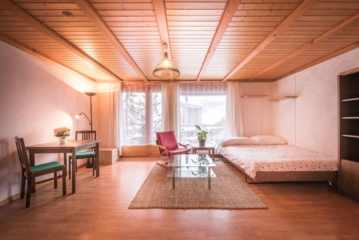 A light, bright studio for 2 in central Wengen - Wengen - อพาร์ทเมนท์