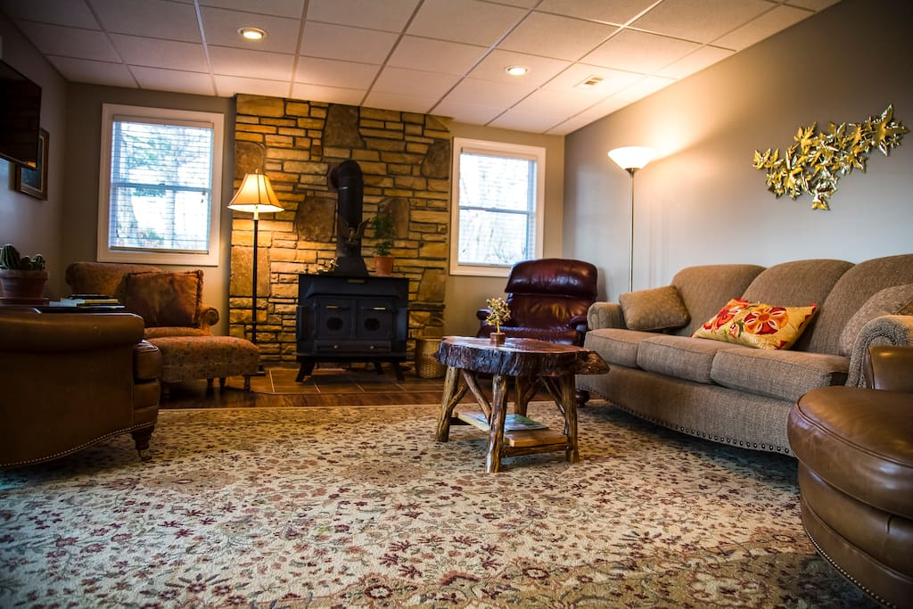 Relax in one of many comfortable seating options in the welcoming living room.