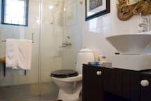 Designer fitting in guest bathroom.