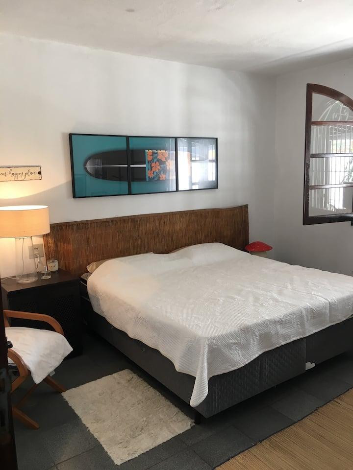 Dormitório casal em casa de praia