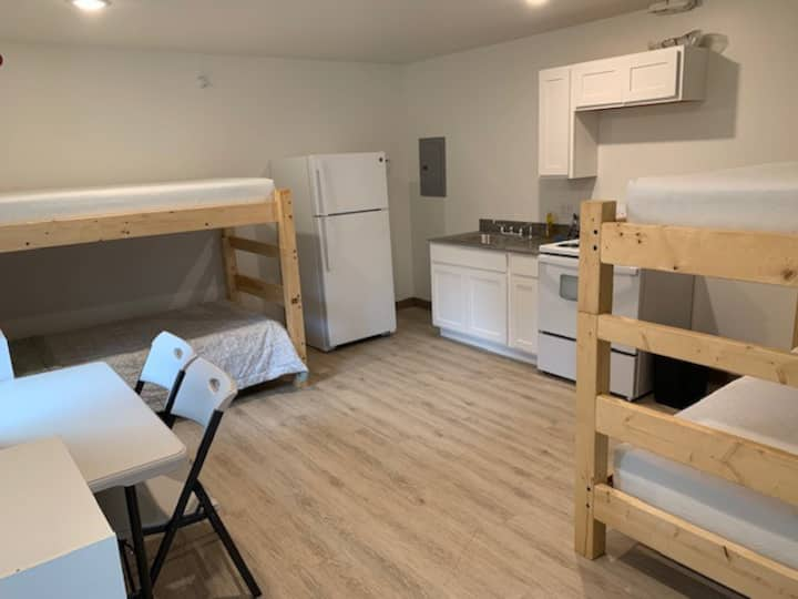 Brand new bunk rooms with full kitchen