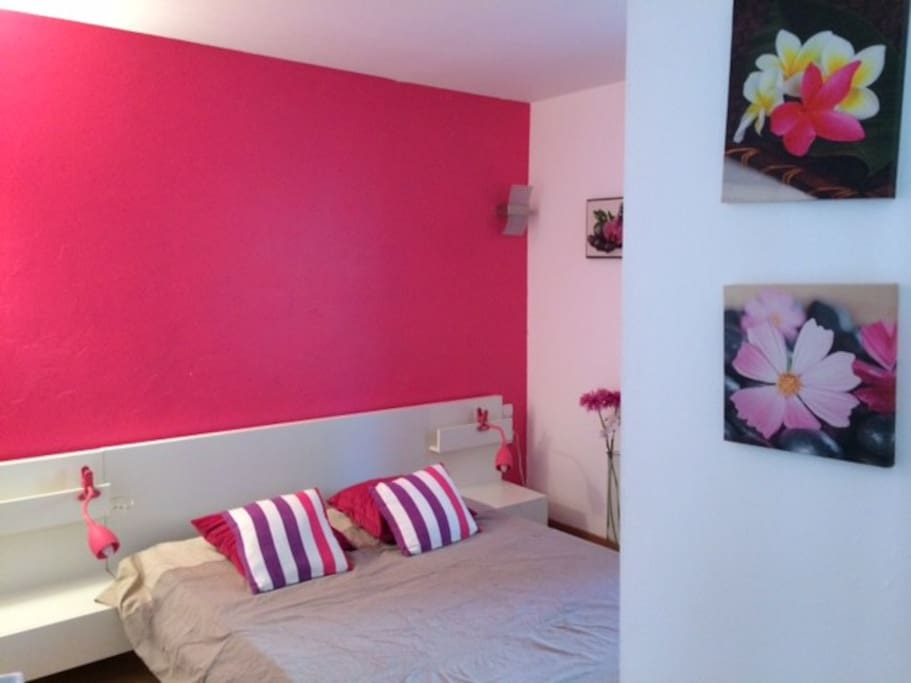 Chambre confortable, literie neuve+rangement