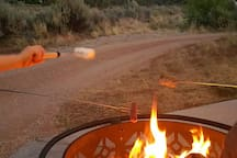 Enjoy roasting marshmallows and hot dogs, your host is happy to come assist you in making a fire and creating a fun experience for your family.