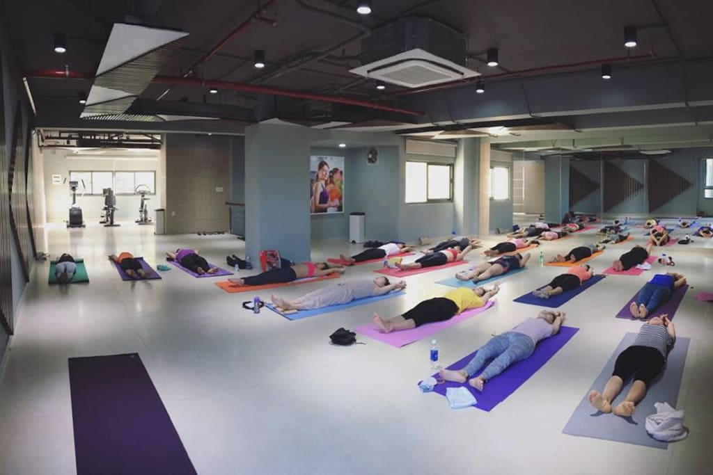 Gym & space for fitness, yoga