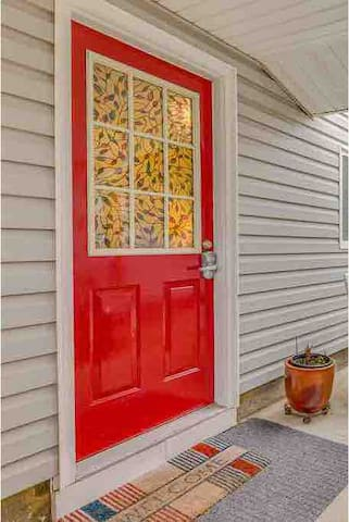 Bright Rex Door to unit with self check keyless entry