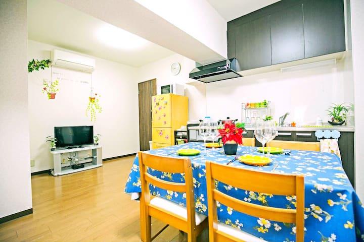 BIG. 日本橋駅2min 道顿堀,黑门市场5min心齋橋8min - Osaka - Leilighet