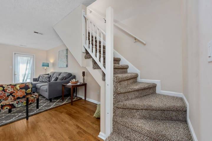 Living room/stairs