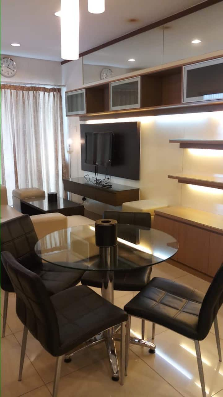 A two bedrooms apartment in Thamrin area