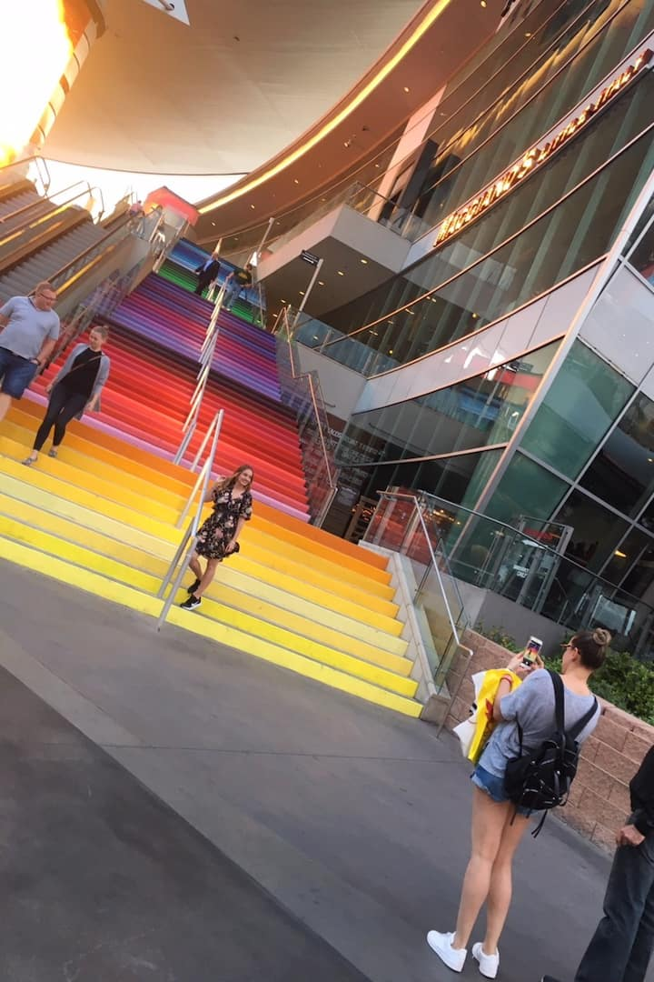 Find the rainbow staircase!