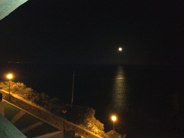View from the balcony at night