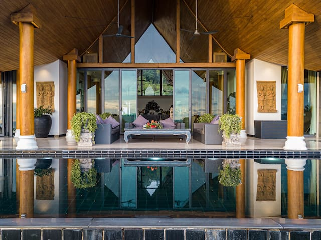 Andaman Spirit安达曼海超豪华一线四卧室私人泳池别墅 市中心5分钟 超大视野全职菲佣保姆