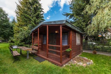 Przytulny drewniany mały domek w Dębkach