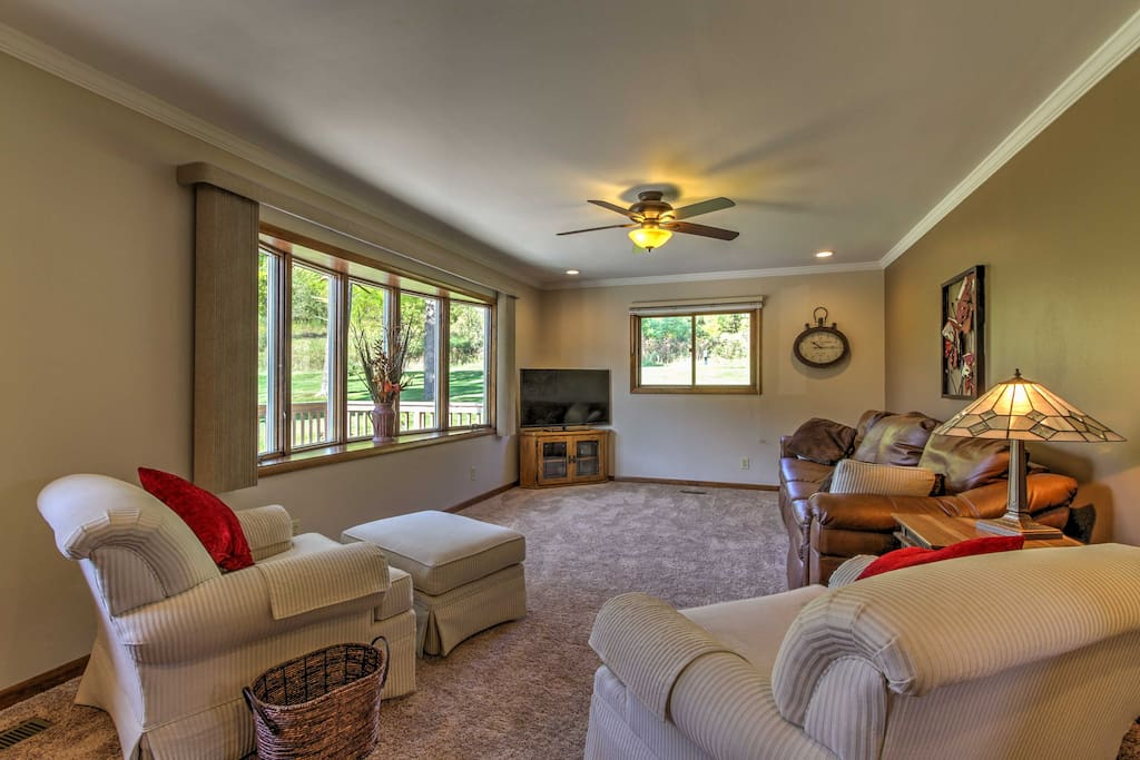 The interior is well-appointed and features all the comforts of home.