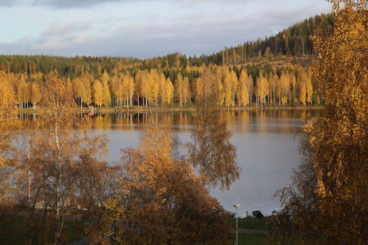 Yksiö järvinäköalalla.