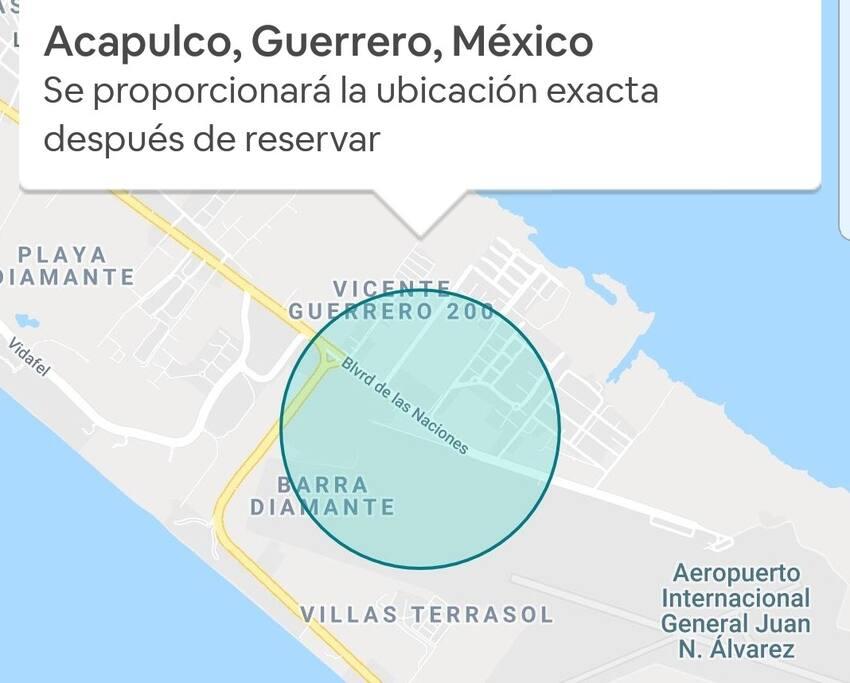 Zona Diamante,  la mejor de Acapulco y segura. Mi Bungalow tu mejor opción para tus vacaciones.