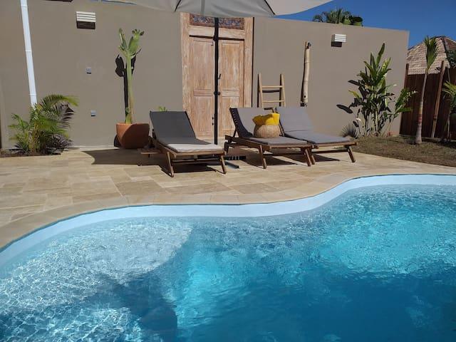 maison mitoyenne cosy avec piscine privé