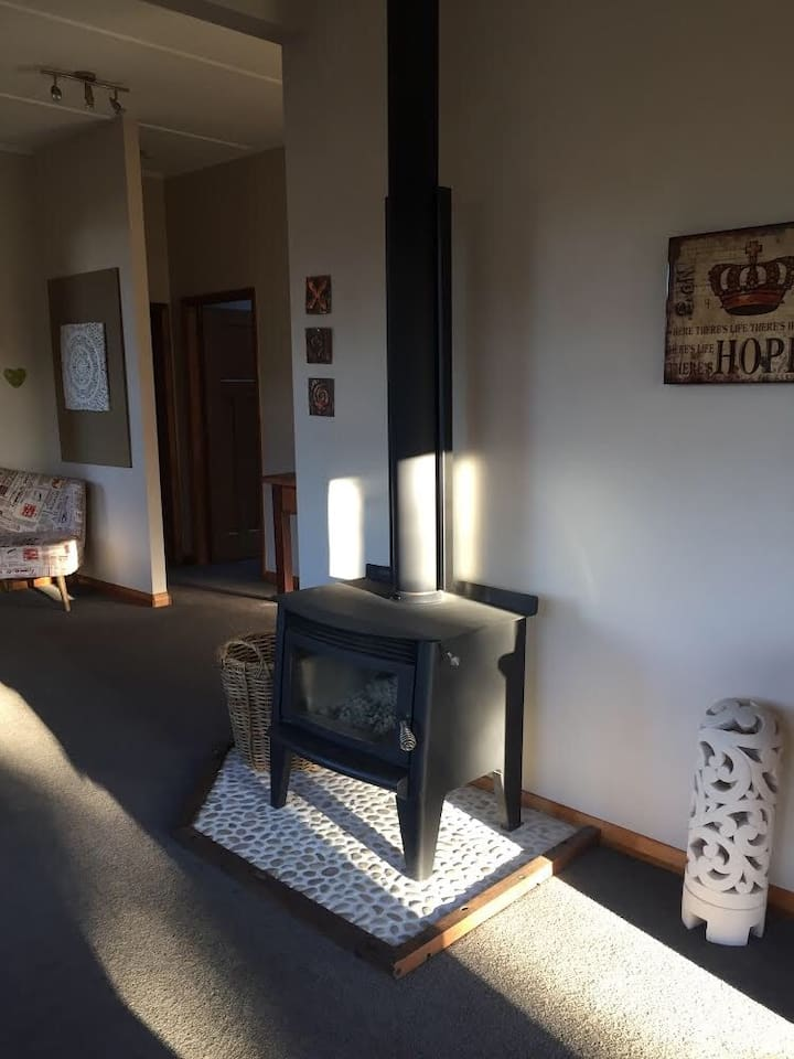 Log burner, heats the entire house with a lovely relaxing heat, you will never be cold staying here