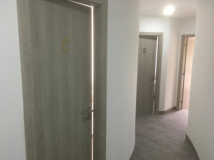 Hall dos quartos