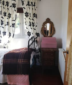 Light Filled Small Double Room, Vintage Style.