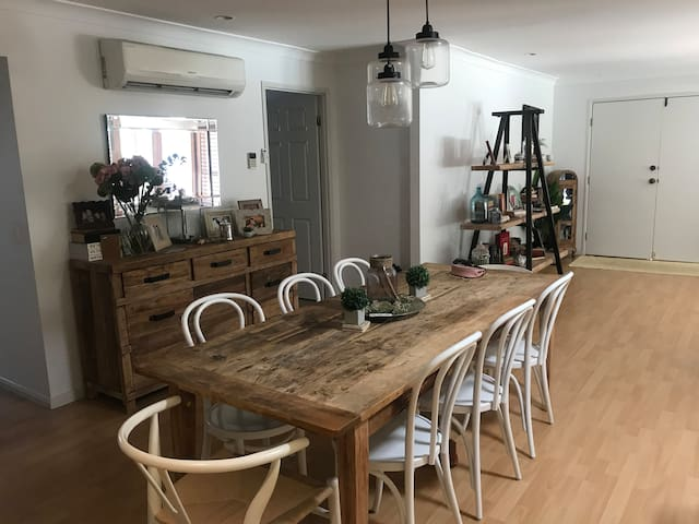 Dining area -open plan- timber floors